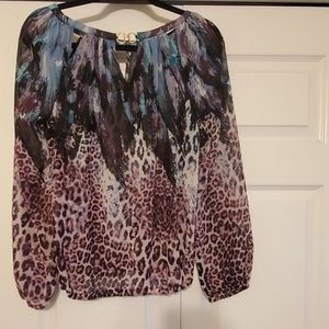 JLO PURPLE LEOPARD PRINT TOP